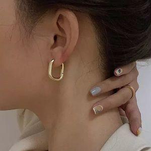 "Gold 925 Sterling Silver Plated 1"" U Hoop Earri…"
